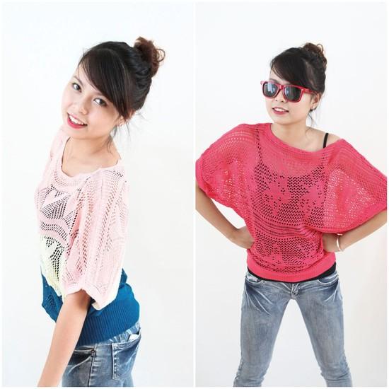 Áo len cánh dơi thời trang, năng động - Màu sắc trẻ trung,cho bạn gái thêm phần năng động - Chỉ 90.000đ/ 01 chiếc