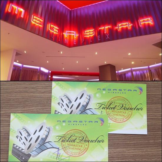 Vé xem phim tại MegaStar - Chỉ 125.000đ/02 vé