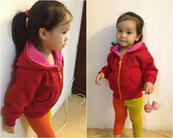Áo khoác nỉ trẻ em lót lông