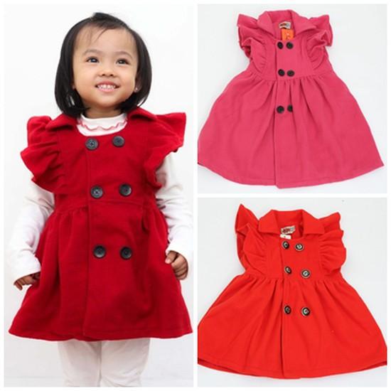 Váy dạ bé gái - Xinh xắn và đáng yêu - Ấm áp khi đông về
