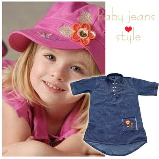 Đầm giả jeans cho bé gái - Chỉ 79.000đ