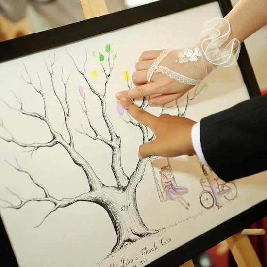 Voucher đặt bộ Khung tranh wedding tree in dấu vân tay hoặc chữ ký