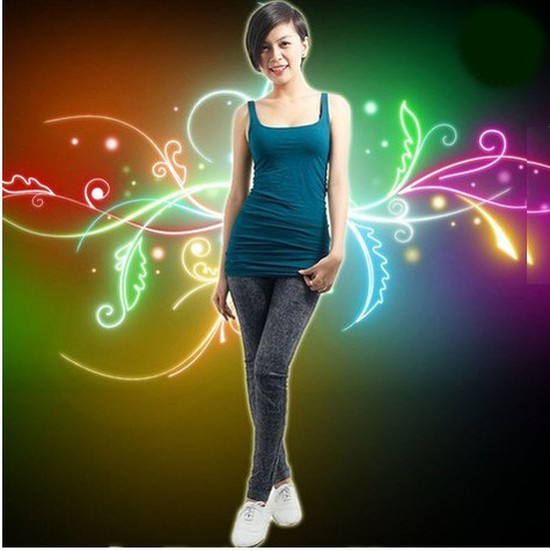 Quần legging dài giả jean cực chất - Bạn gái sành điệu và cá tính - Chỉ 110.000đ/02 chiếc