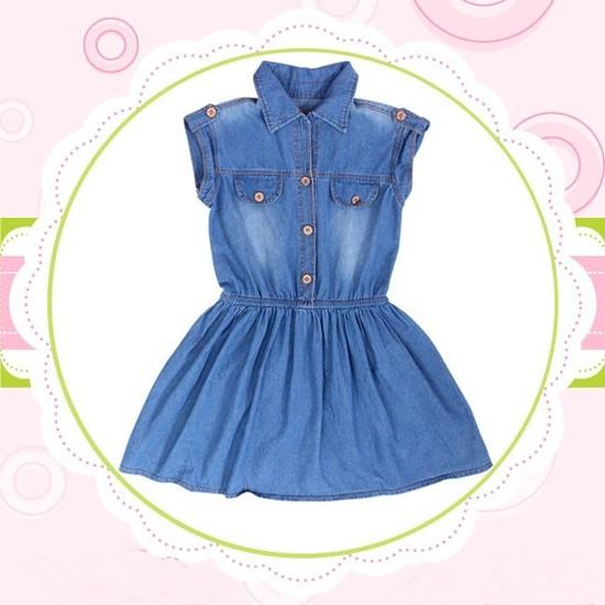 Đầm jean cho bé từ 10 - 15 tuổi