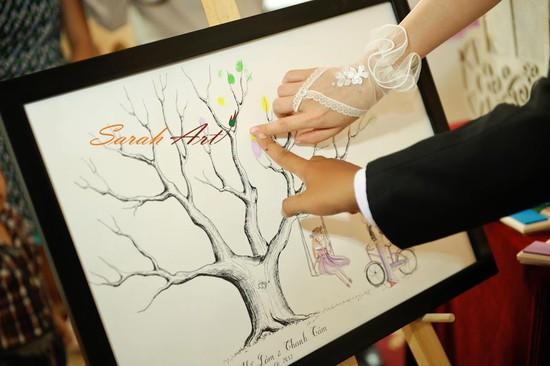 Tranh in dấu vân tay - cho Lễ cưới thực sự ý nghĩa