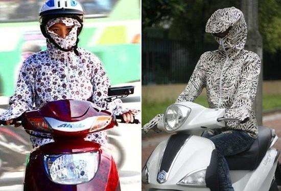 Áo chống nắng 02 lớp - Vừa là áo, vừa thay thế khẩu trang, găng tay, mũ - Chỉ 130.000đ