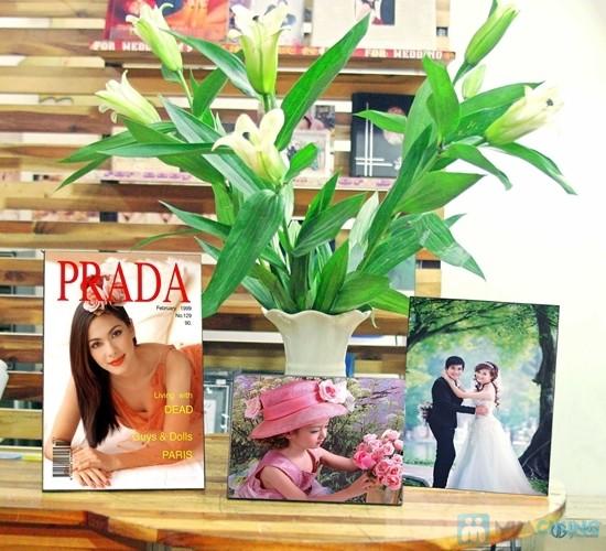 Phiếu in và ép ảnh trên gỗ tại Sắc Màu - Lưu giữ kỉ niệm ngọt ngào theo cách đặc biệt - Chỉ 100.000đ được phiếu 200.000đ