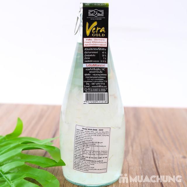 6 chai nước nha đam vị vải hoặc nho- NK Thái Lan - 8