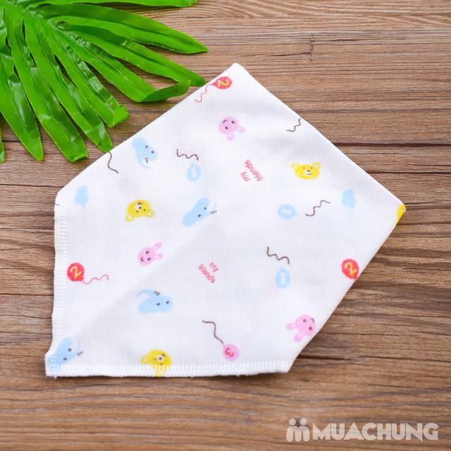 Combo 10 yếm khăn xô hoa chất cotton cho bé - 1