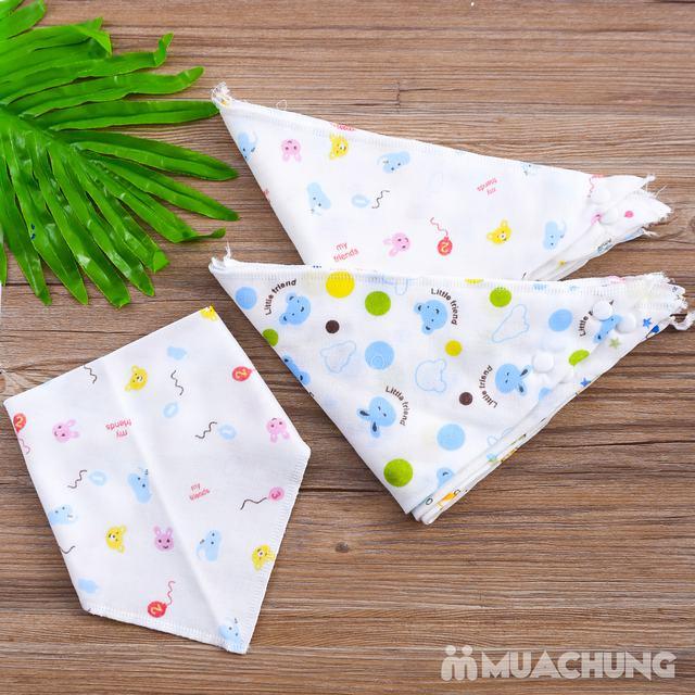 Combo 10 yếm khăn xô hoa chất cotton cho bé - 3