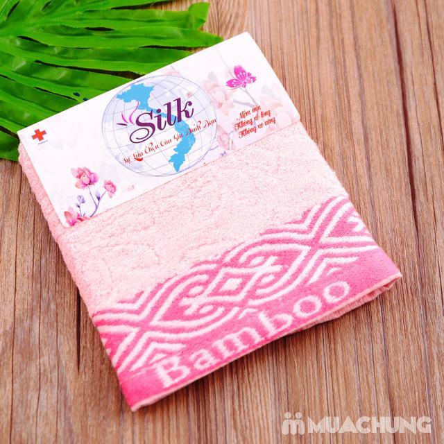 Combo 5 khăn mặt Silk - 100% sợi tre thiên nhiên - 6
