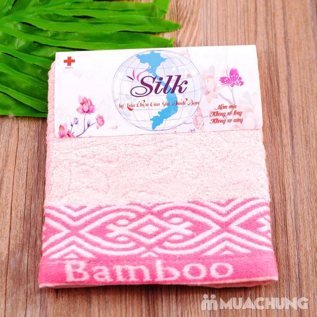 Combo 5 khăn mặt Silk - 100% sợi tre thiên nhiên - 11