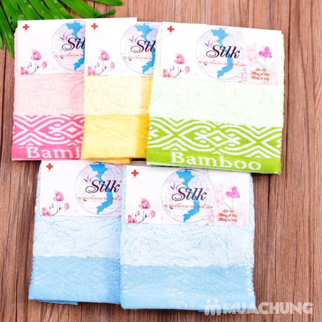 Combo 5 khăn mặt Silk - 100% sợi tre thiên nhiên - 5