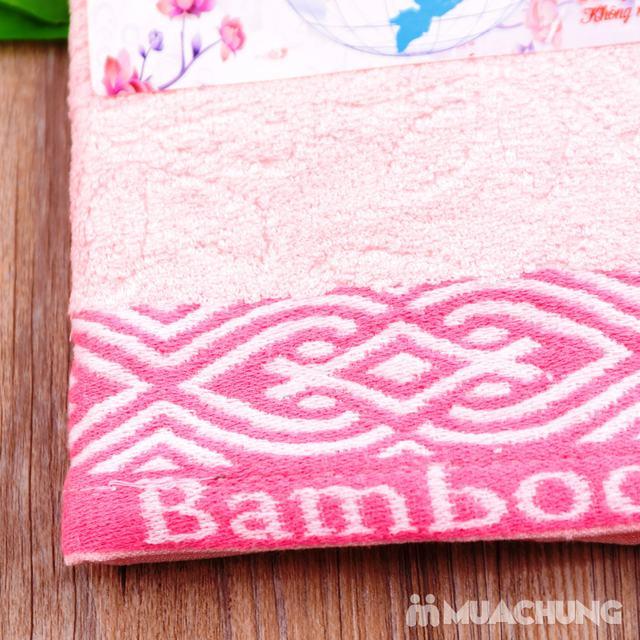 Combo 5 khăn mặt Silk - 100% sợi tre thiên nhiên - 8