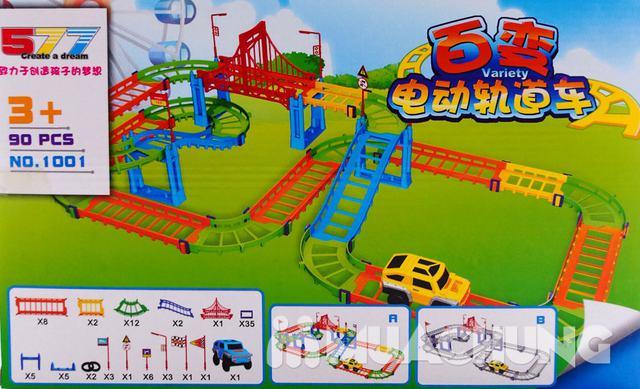 Bộ đồ chơi lắp ráp đường đua ô tô 90 chi tiết - 4