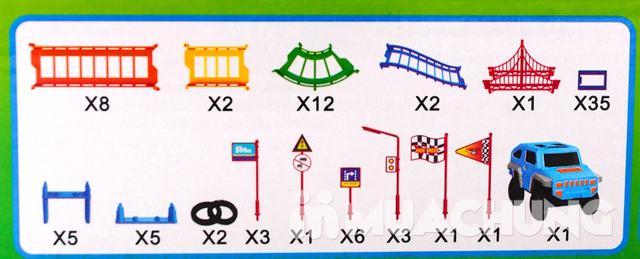 Bộ đồ chơi lắp ráp đường đua ô tô 90 chi tiết - 10