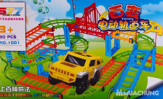Bộ đồ chơi lắp ráp đường đua ô tô 90 chi tiết - 5