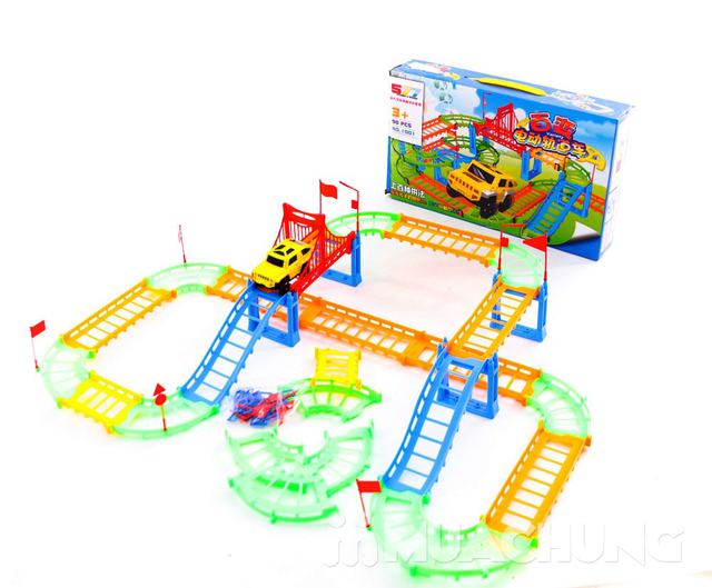 Bộ đồ chơi lắp ráp đường đua ô tô 90 chi tiết - 3
