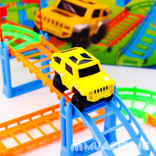 Bộ đồ chơi lắp ráp đường đua ô tô 90 chi tiết - 6
