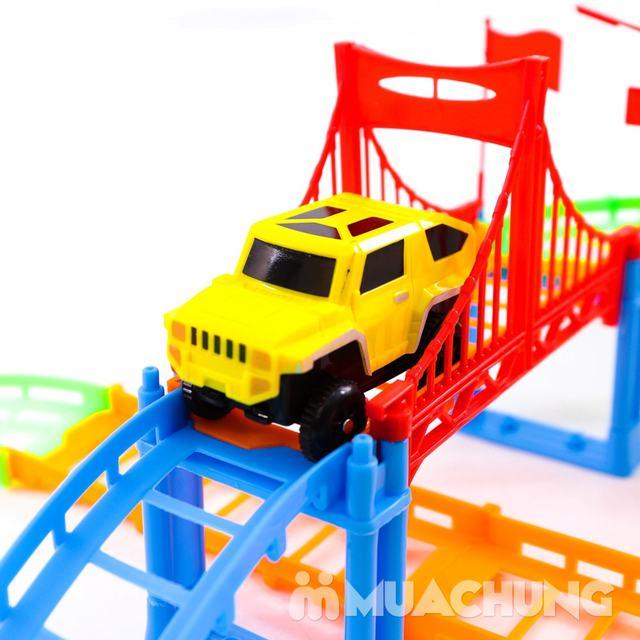 Bộ đồ chơi lắp ráp đường đua ô tô 90 chi tiết - 7