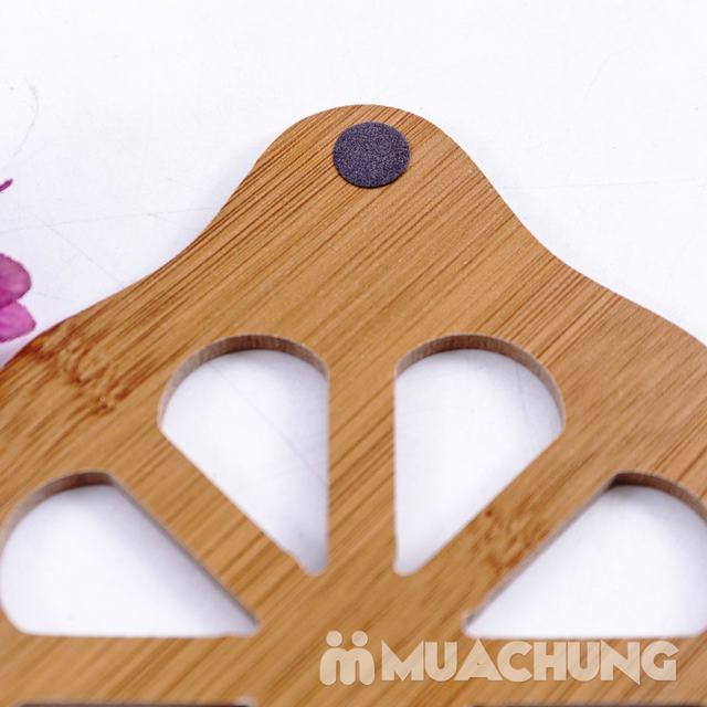 Combo 3 đế lót nồi bằng gỗ chịu nhiệt - 11