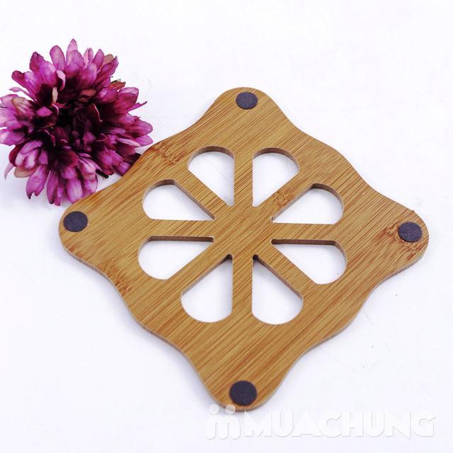 Combo 3 đế lót nồi bằng gỗ chịu nhiệt - 10