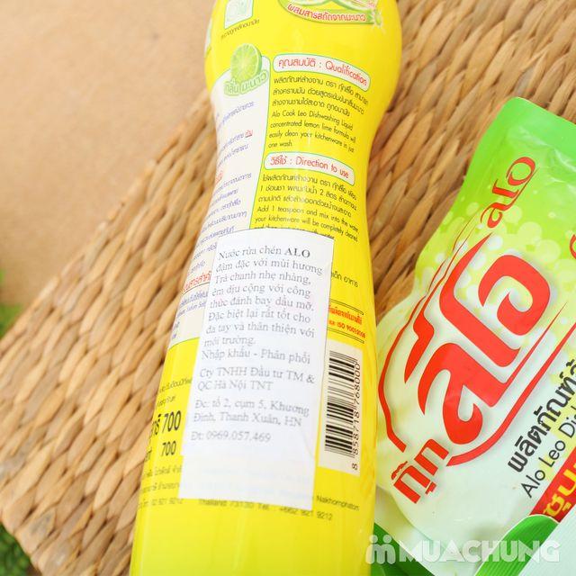 Combo 5 túi + 1 chai nước rửa chén ALo Thái Lan - 7