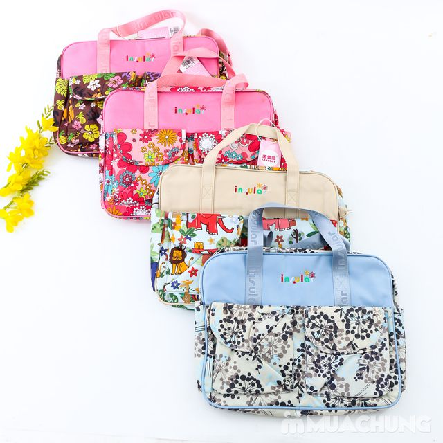 Túi xách họa tiết đa năng nhiều ngăn tiện dụng - 13
