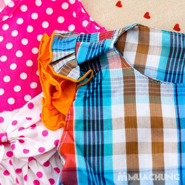 2 váy vải thô xinh xắn cho bé gái size từ 1-3  - 13