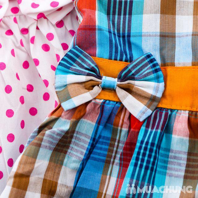 2 váy vải thô xinh xắn cho bé gái size từ 1-3  - 14