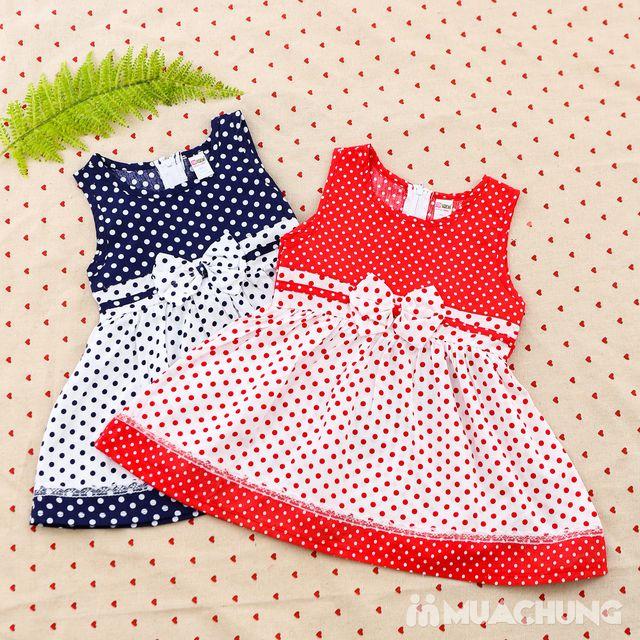 2 váy vải thô xinh xắn cho bé gái size từ 1-3  - 16