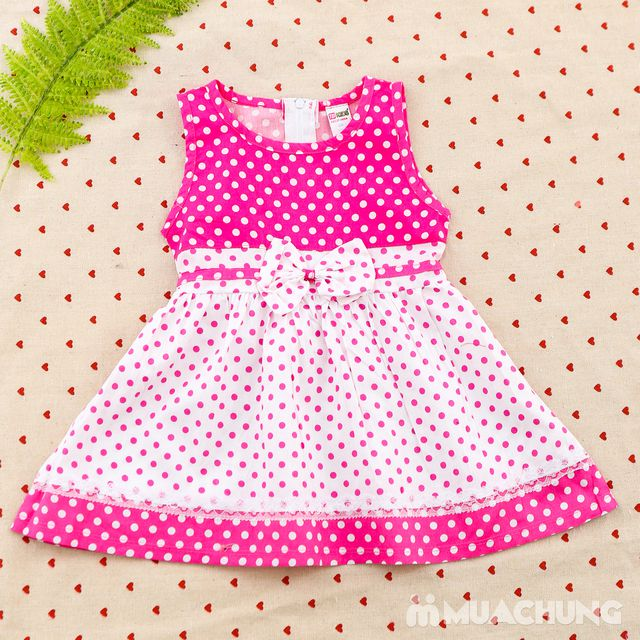 2 váy vải thô xinh xắn cho bé gái size từ 1-3  - 10