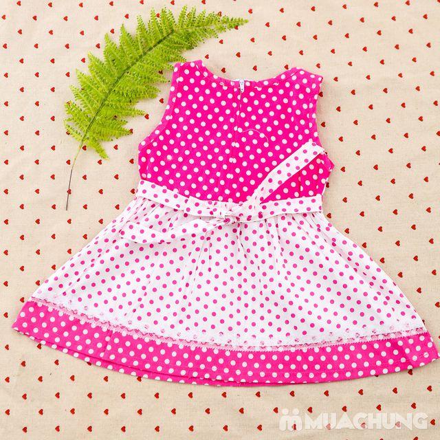 2 váy vải thô xinh xắn cho bé gái size từ 1-3  - 12