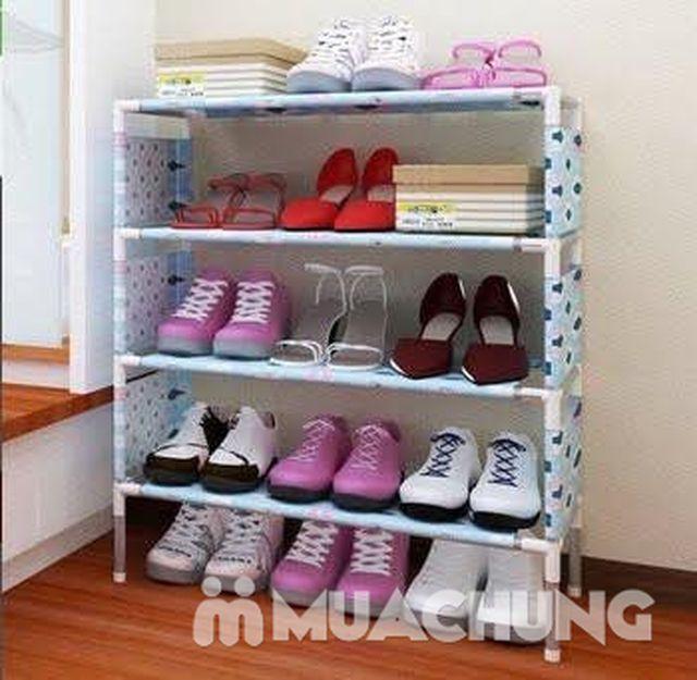 Tiết kiệm diện tích với giá để giày 4 tầng hoa văn - 3