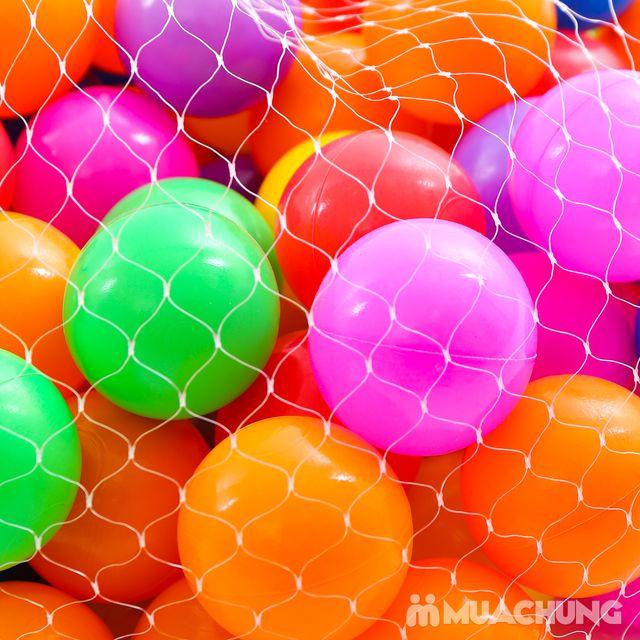 Túi 100 quả bóng nhựa size nhỏ sắc màu - 2