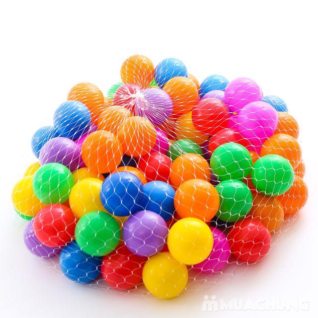 Túi 100 quả bóng nhựa size nhỏ sắc màu - 3