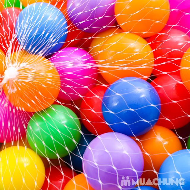 Túi 100 quả bóng nhựa size nhỏ sắc màu - 1