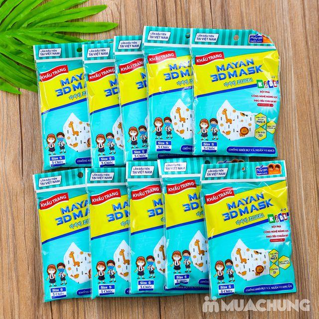 Combo 10 túi khẩu trang 3D cho trẻ em (5c/1 túi) - 5