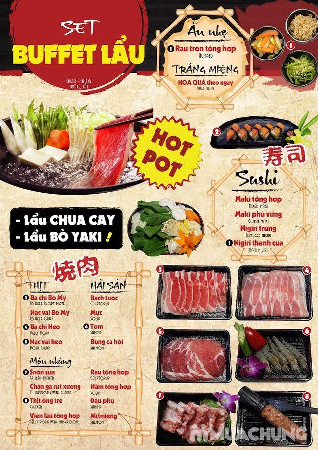 Buffet lẩu& sushi Yaki Times Ciy thơm ngon đặc sắc - 51