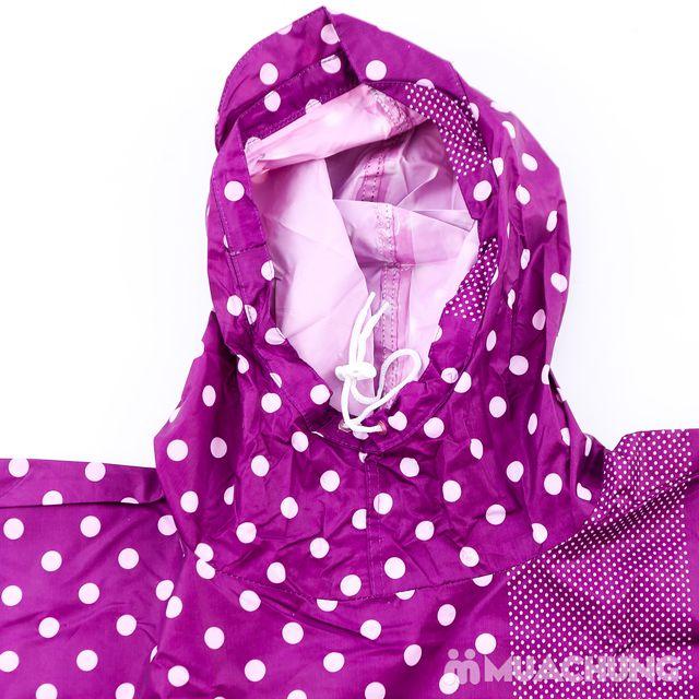 Áo mưa cánh dơi Poncho có kính, nhiều mẫu họa tiết - 5