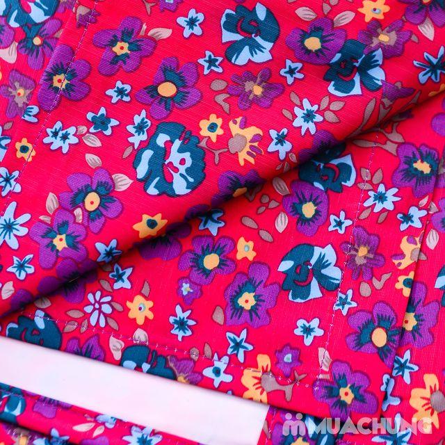 Áo mưa cánh dơi Poncho có kính, nhiều mẫu họa tiết - 3
