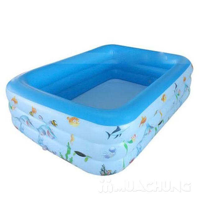 Bể bơi phao chữ nhật 1m5 - Thỏa sức bơi lội - 2