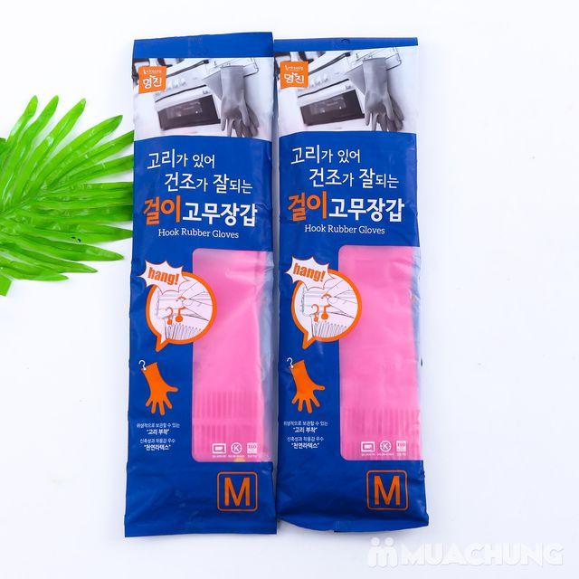 2 đôi găng tay cao su có móc treo - NK Hàn Quốc - 5