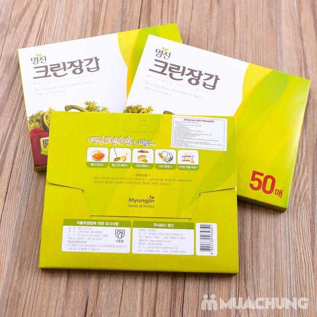 3 hộp găng tay nilon dùng 1 lần MyungJin- Hàn Quốc - 2
