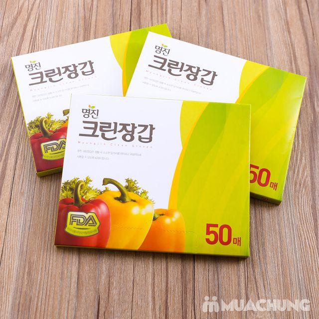 3 hộp găng tay nilon dùng 1 lần MyungJin- Hàn Quốc - 1