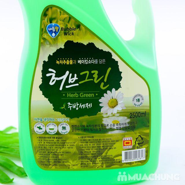 Nước rửa bát bạc hà 2,5L sạch dầu mỡ - NK Hàn Quốc - 6