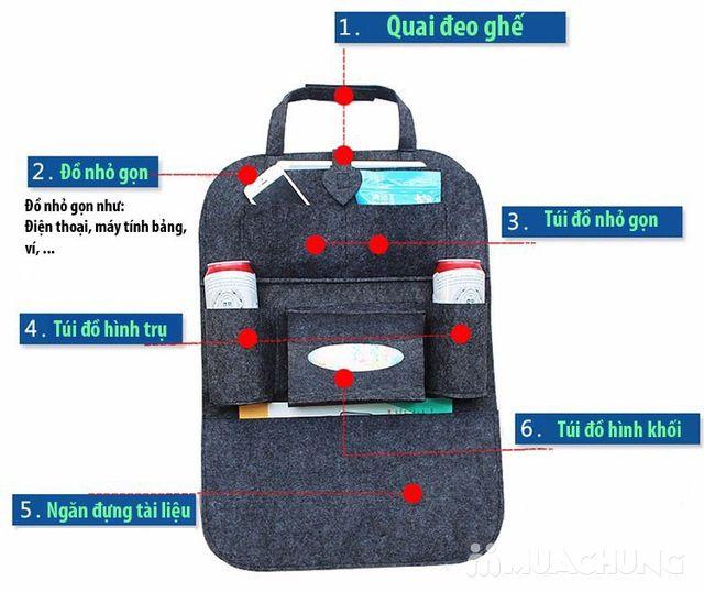 Túi đựng đồ nhiều ngăn treo sau ghế ô tô tiện dụng - 15