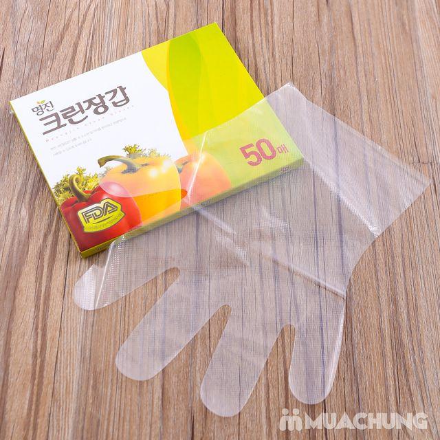 3 hộp găng tay nilon dùng 1 lần MyungJin- Hàn Quốc - 5