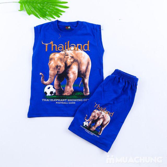 Bộ ba lỗ quần đùi bé trai hàng Thái Lan - 8