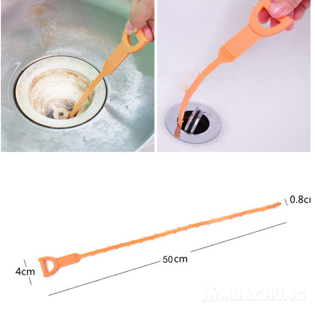 Combo 2 dụng cụ thông tắc lavabo, bồn rửa bát - 11